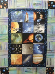 Apple Piecers Space Quilt
