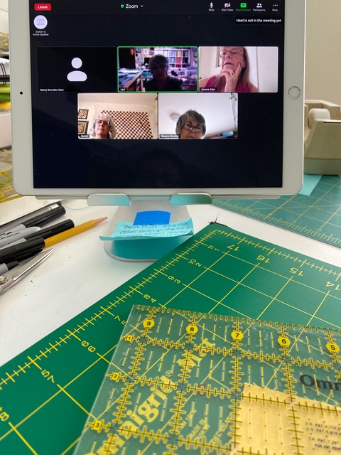 Small Quilt Group Zoom meeting